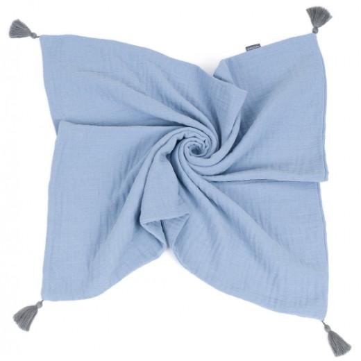 Mušelínová deka DOUBLE GAUZE se střapci